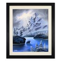 "Jon Rattenbury Signed ""Midwinter Dream"" 26x30 Custom Framed Original Acrylic Painting on Canvas"