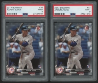 Lot of (2) 2017 Bowman #32 Aaron Judge RC Baseball Cards (PSA 9)