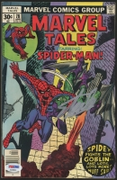 """Stan Lee Signed 1977 """"Spider-Man"""" Issue #78 Marvel Comic Book (PSA COA)"""