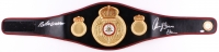 "Roberto Duran & Thomas ""Hitman"" Hearns Signed Full-Size WBA Heavyweight Championship Belt (Beckett COA)"