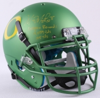 "Marcus Mariota Signed LE Oregon Full-Size Authentic On-Field Helmet Inscribed ""Oregon Record: 13,089 Yds 105 Tds"" (Steiner COA)"