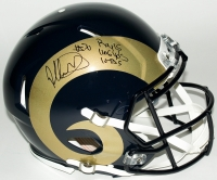 "Todd Gurley Signed LE Rams Full-Size Authentic On-Field Helmet Inscribed ""ROY 15"", ""1106 Yds"", & ""10 TDs"" (Steiner COA)"