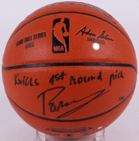 "Kristaps Porzingis Signed LE NBA Game Ball Series Basketball Inscribed ""Knicks 1st Round Pick"" (Steiner COA)"