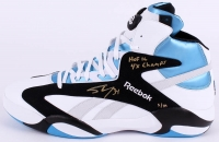 "Shaquille O'Neal Signed LE Size 22 Reebok Shoe Inscribed ""HOF 16"" & ""4x Champs"" #/34 (Steiner COA)"