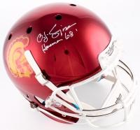 "O.J. Simpson Signed USC Trojans Full-Size Helmet Inscribed ""Heisman 68'"" (JSA COA)"