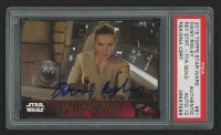 Daisy Ridley Signed 2015 Star Wars The Force Awakens Series One Gold #91 Rey starts the Millennium Falcon (PSA Encapsulated - Autograph Graded 10)