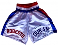 Roberto Duran Signed Boxing Trunks (JSA COA)