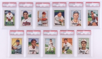 Lot of (11) Graded PSA 4 1951 Bowman Baseball Cards with #39 Ray Scarborough, #204 Vic Lombardi RC, #42 Vern Bickford