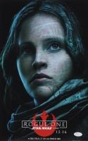 "Felicity Jones Signed ""Rogue One: A Star Wars Story"" 11x17 Photo (JSA COA)"