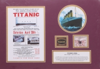 "Authentic Coal From Titanic Wreckage 14"" x 20"" Custom Matted Display (RMS Titanic COA)"