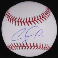 Carlos Correa Signed OML Baseball (JSA COA)