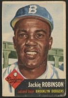 1953 Topps #1 Jackie Robinson DP (Trimmed)