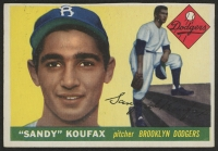 1955 Topps #123 Sandy Koufax RC (Trimmed)