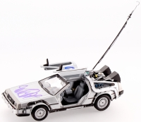 "Michael J. Fox & Christopher Lloyd Signed ""Back to the Future"" DeLorean 1:24 Diecast Car (PSA LOA) at PristineAuction.com"