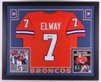John Elway Signed Broncos 35x43 Custom Framed Jersey (JSA COA)