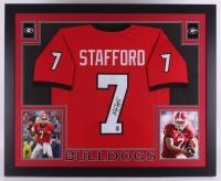 Matthew Stafford Signed Georgia Bulldogs 35x43 Custom Framed Jersey (JSA COA)