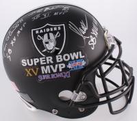 "Jim Plunkett, Fred Biletnikoff & Marcus Allen Signed & Inscribed Raiders ""Super Bowl MVP's"" Full Size Authentic On-Field Helmet (JSA COA)"