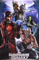 """Stan Lee Signed """"Guardians of the Galaxy"""" 22.5x34 Movie Poster (Radtke COA & Lee Hologram)"""