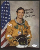 "Robert Crippen Signed NASA 8x10 Photo Inscribed ""Reach For The Stars!"" (JSA COA)"