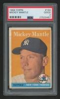 1958 Topps #150 Mickey Mantle (PSA 2)