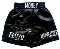 Floyd Mayweather Jr Signed Boxing Trunks (Beckett COA)