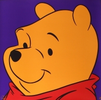 """Winnie the Pooh"" LE 1997 Walt Disney 23.5x23.5 Lithograph"