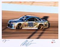Alex Bowman Signed NASCAR #88 Limited Edition 11x14 Photo #/100 (PA COA) at PristineAuction.com