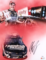 """Alex Bowman Signed NASCAR """"2017 Charlotte Win"""" Limited Edition 11x14 Photo #/88 (PA COA) at PristineAuction.com"""
