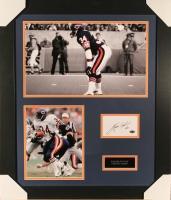 Walter Payton Signed Bears 23x27 Custom Framed Index Card Display (Payton COA)