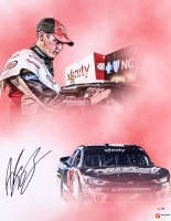 "Alex Bowman Signed NASCAR ""2017 Charlotte Win"" Limited Edition 11x14 Photo #/88 (PA COA) at PristineAuction.com"