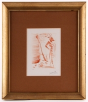 "Salvador Dali Signed ""Romeo and Juliet"" 16.25x18.5 Custom Framed Artist Proof Etching (PA LOA)"