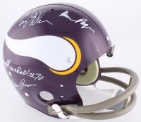"Vikings ""Purple People Eaters"" Full-Size Throwback Helmet Signed by (4) with Alan Page, Carl Eller, Jim Marshall & Gary Larsen (TSE COA)"