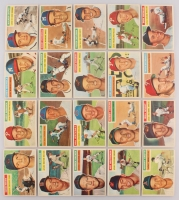 Lot of (20) 1956 Topps Baseball Cards