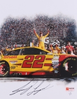 """Joey Logano Signed NASCAR """"Daytona 500 Win"""" Limited Edition 8.5x11 Photo #1/1 (PA COA)"""