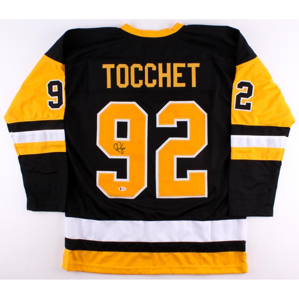 Rick Tocchet Signed Penguins Jersey (Beckett COA) dcbf0a779