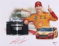 """Joey Logano Signed NASCAR """"Daytona 500 Win"""" Limited Edition 11x14 Photo #/22 (PA COA)"""