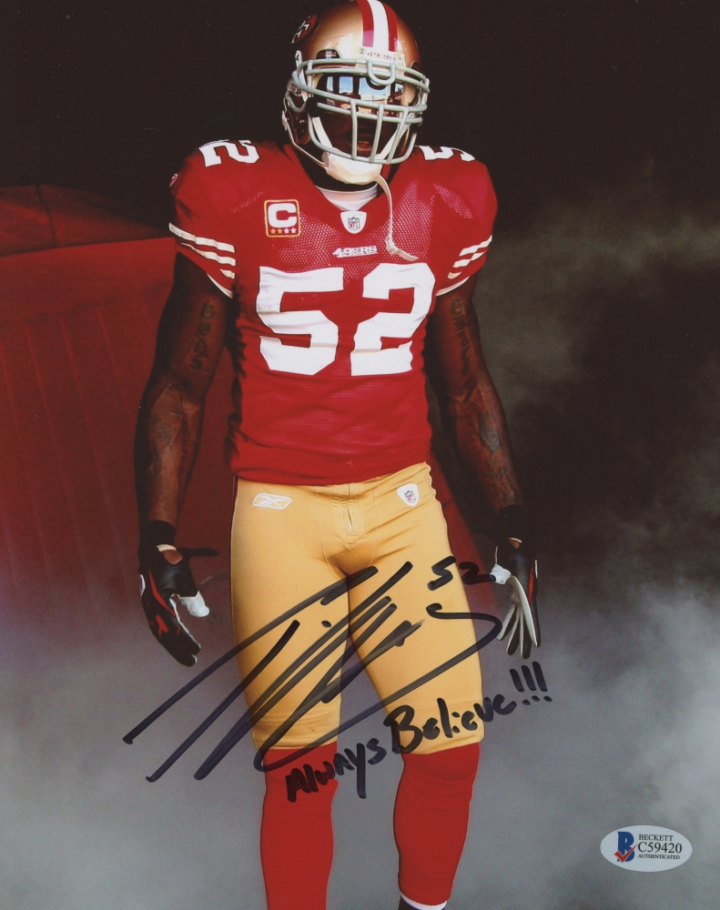 2818a49cba3 Patrick Willis Signed 49ers 8x10 Photo Inscribed