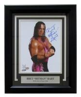 "Bret ""Hitman"" Hart Signed 11x14 Custom Framed Photo Display (SI COA)"