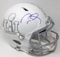"""Tom Brady Signed """"Super Bowl 51"""" Limited Edition Custom Matte White ICE Full-Size Authentic On-Field Speed Helmet (Steiner COA & TriStar)"""