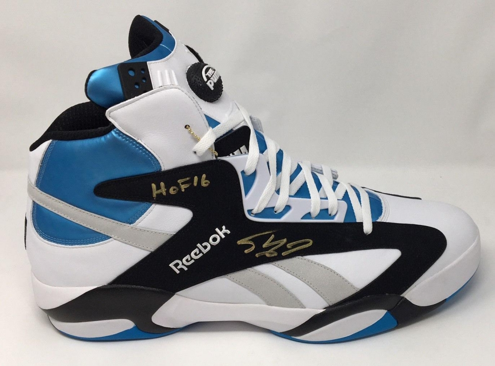 36ac0c30058 Shaquille O Neal Signed Reebok Shaq Attaq OG Shoe Inscribed