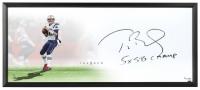 "Tom Brady Signed Patriots ""The Show"" 20x46 LE Custom Framed Lithograph Inscribed ""5x SB Champ"" (UDA COA)"