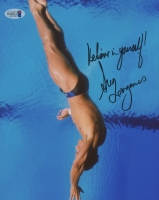 "Greg Louganis Signed 8x10 Photo Inscribed ""Believe In Yourself!"" (Beckett COA)"
