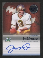2008 Press Pass Legends Bowl Edition Autographs Sapphire #JM Joe Montana / 20