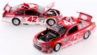 Lot of (2) Kyle Larson Signed LE NASCAR Custom 1:24 Diecast Cars with (1) #42 2016 SS Target & (1) #42 2017 SS Target Liquid Color (JSA COA)