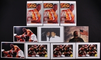 "Lot of (10) Riddick Bowe Signed 11x17 Photos with (9) Inscribed ""44-1"" (JSA ALOA)"
