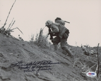 "Hershel W. Williams Signed 8x10 Photo Inscribed ""Medal of Honor Iwo-Jima"" (PSA COA)"
