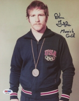 "Dan Gable Signed USA 8x10 Photo Inscribed ""Munich Gold"" (PSA COA)"