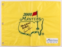 "Arnold Palmer Signed 2008 Masters Tournament Golf Pin Flag Inscribed ""Best Wishes"" (JSA ALOA)"