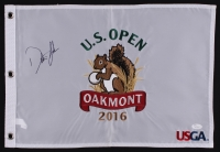Dustin Johnson Signed 2016 Oakmont US Open Pin Flag (JSA COA)