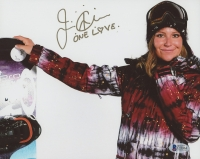 "Jamie Anderson Signed 8x10 Photo Inscribed ""One Love"" (Beckett COA)"